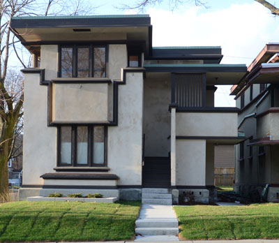 American System-Built Home Model Two Flat C (1916)  Frank Lloyd Wright